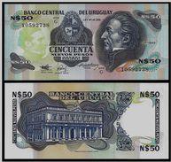URUGUAY 50 Pesos 1989 UNC  Pick 61A - Uruguay