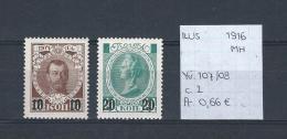 USSR 1916 - YT 107/08 Postfris Met Plakker/neuf Avec Charnière/MH - Unused Stamps
