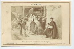 """Carte Album Format 17cm X 11cm: G Vibert """"Une Cour De Diligence En Espagne"""" - Peintures & Tableaux"""