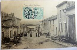 CPA 55 - Frémereville - Rue Haute - 1906 - Animée - Double Timbrage - Autres Communes