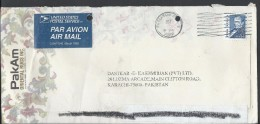 USA Airmail 1989 $1.00 Johns Hopkins Postal History Cover Sent To Pakistan. - Brieven En Documenten