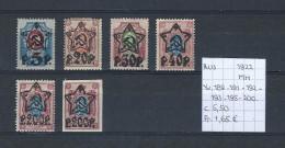 USSR 1922 - YT 189-191-192-193-195-200 Postfris Met Plakker/neuf Avec Charnière/MH - Unused Stamps