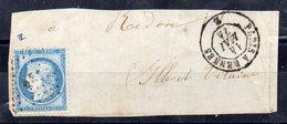 N°60C - AMBULANT   P R  (lettres Baton ) Sur Grand Fragment - Marcofilie (Brieven)