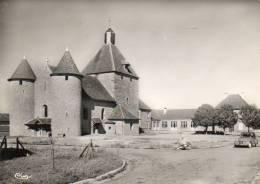 CPSM - MANLAY (21) - Aspect De L'Eglise Et Du Groupe Scolaire En 1958 - Andere Gemeenten