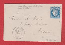 Enveloppe  / De  Ligueil / Pour Tours / 15 Décembre 1876 - Storia Postale