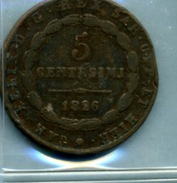 1826 5 CENTESIMI SARDAIGNE - Temporary Coins