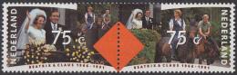 Nederland - 25-jarig Huwelijksfeest Prinses Betatrix - Prins Claus - 10 Maart 1966 - MNH - NVPH 1466-1467a Paar - Beroemde Vrouwen