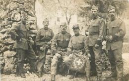 CARTE PHOTO AVEC DRAPEAU MOBILISATION DE GUERRE 1914 - Suisse