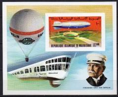 Mauritanie - Bloc Feuillet - 1976 - N° Yvert : BF 15 ** - Zeppelin, Non Dentelé - Mauritania (1960-...)
