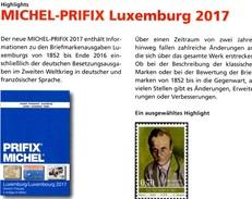 Luxembourg MICHEL/PRIFIX Briefmarken Katalog 2017 New 28€ Spezial ATM MH Dienst Porto Besetzungen In Deutsch/franzö - Telefonkarten