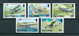 1984 Isle Of Man Complete Set Airplanes MNH/Postfris/Neuf Sans Charniere - Man (Eiland)