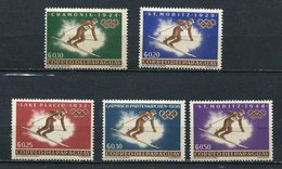 1963 PARAGUAY JEUX OLYMPIQUES D' INNSBRUCK  SERIE COMPLETE NEUVE** - Hiver 1964: Innsbruck