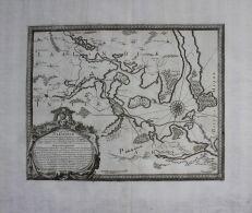 Nakskov Lolland Dänemark Denmark Karte Map Kupferstich Engraving Pufendorf - Stiche & Gravuren