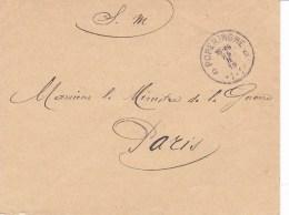 Belgique Lettre En Franchise Militaire De Poperinghe à Paris  1915 - Guerre 14-18