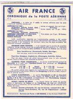 AVIATION  AIR FRANCE  CHRONIQUE  DE LA POSTE  AERIENNE 1938  SURTAXES  N°21  TBE - Aerodromes