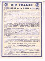 AVIATION  AIR FRANCE  CHRONIQUE  DE LA POSTE  AERIENNE 1938  COURRIER  SANS SURTAXE  N°20  TBE - Aerodromes