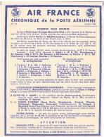 AVIATION  AIR FRANCE  CHRONIQUE  DE LA POSTE  AERIENNE 1938 COURRIER  SANS  SURTAXES  N°18 BE - Aerodromes