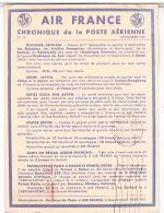 AVIATION  AIR FRANCE  CHRONIQUE  DE LA POSTE  AERIENNE 1937   N°16 BE - Aerodromes