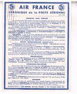 AIR FRANCE  CHRONIQUE  DE LA POSTE  AERIENNE  COURRIER  SANS  SURTAXE  N°29  TBE  LL140 - Aérodromes