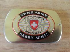 Ac-boîte Métal (vide) - Berry Mints - Swiss Army - Boîtes