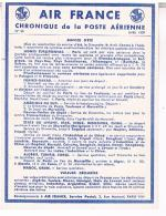 AIR FRANCE  CHRONIQUE  DE LA POSTE  AERIENNE 1939  SERVICE  D´ETE     N°28  TBE  LL141 - Aérodromes