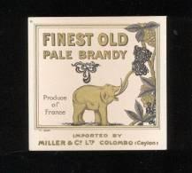 Etiquette De  Brandy   Finest Old Pale  -  Miller    (thème Eléphant) - Etiquettes