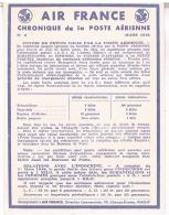 AIR FRANCE  CHRONIQUE  DE LA POSTE  AERIENNE 1948      N°3 TBE - Aerodromes