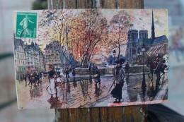B2  - 75 - PARIS - Notre Dame Vue De L´ile  Sain Louis  - ILLUSTRATEUR : Georges STEIN - Champs-Elysées