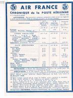 AIR FRANCE  CHRONIQUE  DE LA POSTE  AERIENNE 1948      N°2 TBE - Aerodromes