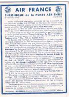 AIR FRANCE  CHRONIQUE  DE LA POSTE  AERIENNE 1948      N°1   TBE - Aerodromes