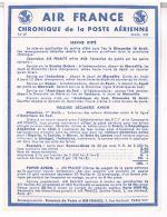 AIR FRANCE  CHRONIQUE  DE LA POSTE  AERIENNE 1939      N°27   TBE - Aerodromes