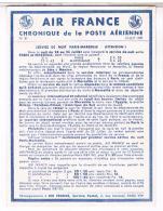 AIR FRANCE  CHRONIQUE  DE LA POSTE  AERIENNE 1939      N°30   TBE - Aerodromes