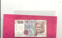 BANCA D'ITALIA . DECRETO MINISTERIALE 3.10.1990. 1.000 LIRE . 2 SCANES.N° ED 311645 V - [ 2] 1946-… : Républic