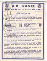 AIR FRANCE  CHRONIQUE  DE LA POSTE  AERIENNE 1937     N°17   TBE - Aerodromes