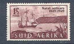 Sud Africa  -  1949 The 100th Anniversary Of The Arrival Of British Settlers In Natal MNH - Sud Africa (...-1961)