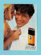 Cartes Parfumées  Carte  à RABAT AZZARO POUR HOMME   De AZZARO  RECTO VERSO - Perfume Cards