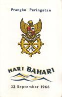 Indonesië - Dag Van De Scheepvaart - Carnet Bandung 23 November 1966 - Z 540-547 - Treinen