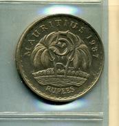1987 5 ROUPIES - Mauritius