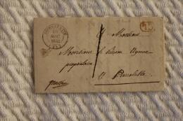 Lettre Pour Pierrelatte Cachet à Date Type 14 Pierrelatte 1842 Correspondance Locale - Marcophilie (Lettres)