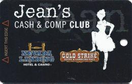 Gold Strike Casino Jean, NV - Slot Card - 3 Logos On Back - Orange Logo Front (BLANK) - Casino Cards