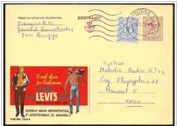 Belgio/Belgium/Belgique: Intero, Stationery, Entier, Publibel, Jeans Levi's - Tessili