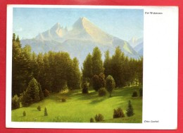 Berchtesgaden. Der Watzmann. Tableau De Otto Goebel.  Feldpost Koblenz Juillet 1942 - Berchtesgaden