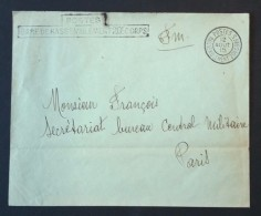 Enveloppe Oblitération POSTES RASSEMBLEMENT 20e CORPS 12 Aout 1915 + Griffe Linéaire Gare De Rassemblement > BCM Paris - 1. Weltkrieg 1914-1918