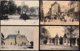 4 X BELLE CARTE CHARLEROI - Rue Damprémy - Prison - Athenée - Caserne - Charleroi