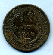 1846  AN 43 6 CENTIMES - Haïti