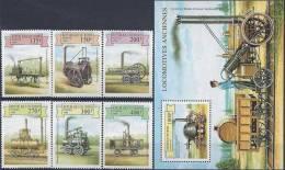 1999 BENIN 908-13+ BF 56**   Trains - Bénin – Dahomey (1960-...)