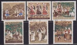1(385). Yugoslavia 1957 Yugoslav National Folk Costumes, Used (o) Michel 827-832 - 1945-1992 Sozialistische Föderative Republik Jugoslawien