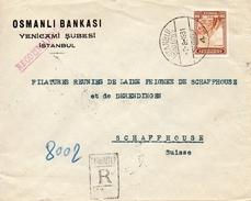 Turquie Lettre Recommandée Istanbul Pour La Suisse 1931 - 1921-... Republiek