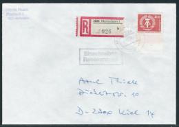 Einschreibebrief, Portogerecht Mit EF 2550 W, Geprüft TICHATZKY BPP, Letzter Tag Der Gültigkeit - Brieven En Documenten