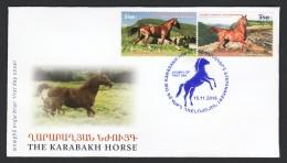 Armenia Karabakh 2016, Karabakh Horses Fauna - FDC - Horses